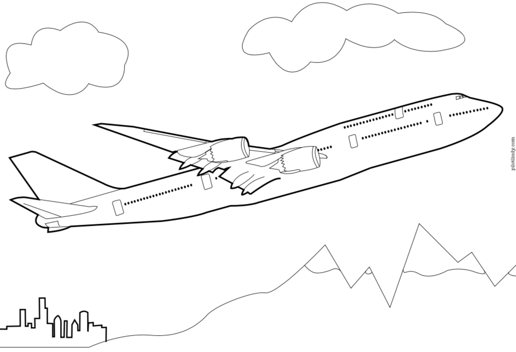 Airplane Coloring Pages Pilot Lindy
