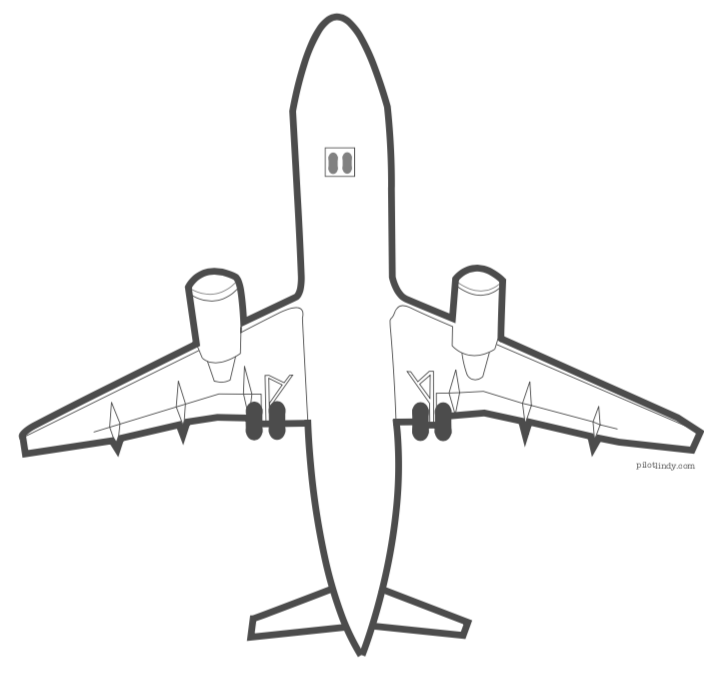 A320 Coloring Page