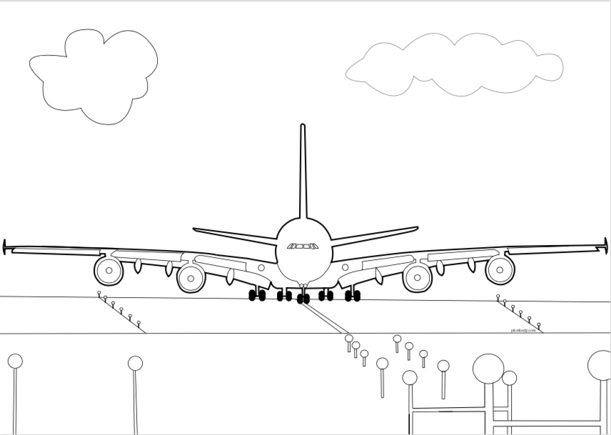 A380 Coloring Page