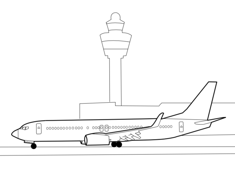 B737 Coloring Page